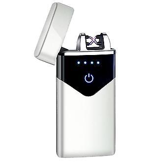 جديد hb-020-ice قطعة أزياء مزدوجة قوس الإلكترونية أخف الذكية لمسة USB التعريفي القابلة لإعادة الشحن sm41899