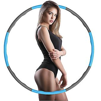 Professional Weighted Hula Hoop For Adults Removable Fitness Sports Hoops ring(Blue And Grey)