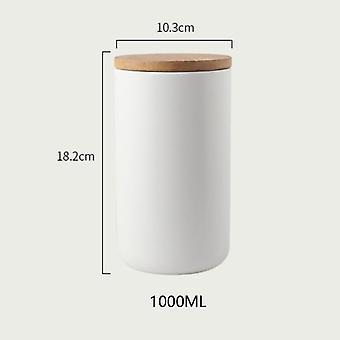 Botella de almacenamiento de café con tapa de madera Spice Jar