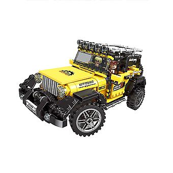 Suv Bouwstenen Puzzel Micro 3d Cijfers All Terrain Careducational Brick Toys Geel
