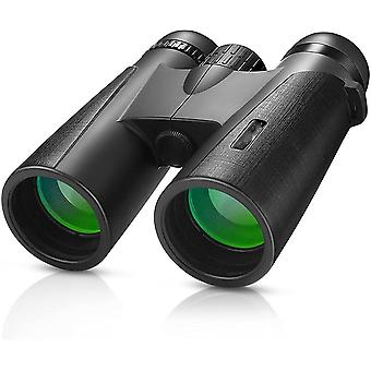 Binoculars Gifts for Men 12x42 Compact Binoculars with Night Vision for Adults Children Waterproof Telescope for Bird Watching Hunting Safari Concerts Travel Soccer Sports,(black)