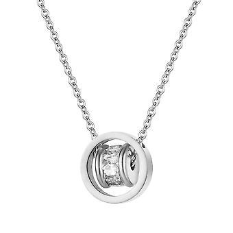 Orbit Pendant & Earring Set täckt med kristaller från Swarovski Silver - 2 Pack