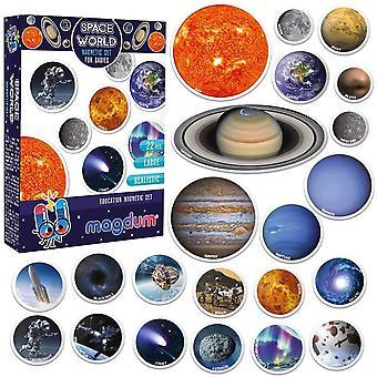 Kühlschrankmagnete Kinder Weltall - 22 GROßE Kühlschrank Magnete für Kleinkinder - Kinder Magnete
