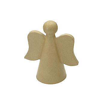 14.5cm Papier Mache Christmas Angel Base à décorer | Papier De Noël Mache