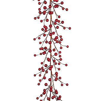 1.5m Chunky Cranberry Christmas Garland for Home Decoration