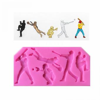 New Baseball Player Trophy Shaped Silicone Cake Mold