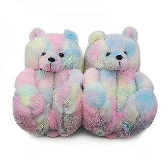 Evago Bear Slippers For Women, Faux Fur Plush Cute Funny Indoor House Slides, Womens Girls Fuzzy Winter Warm Anti-slip Soft Fluffy Home Bedroom Cartoo