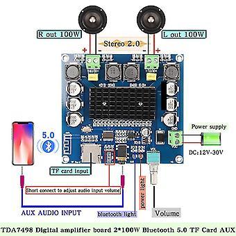 Bluetooth 5.0  Digital Amplifier Board-support Tf Card