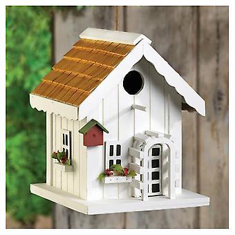 Songbird Valley Cottage Bird House rácsos bejárati ajtóval, 1-es csomag