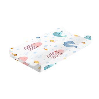 Cubierta de cambiador de bebé Estampado floral Hoja de cuna ajustada Infant