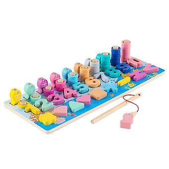 Preschool Math Toy Count Geometric  Blocks Puzzle Busy Board Educational Toys|Math Toys