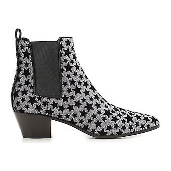 Saint Laurent bottines paillettes anthracite
