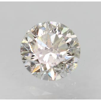 Certified 0.31 Carat E SI1 Round Brilliant Enhanced Natural Loose Diamond 4.29mm