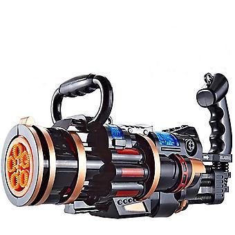 Kinderblasenmaschine Gatling Gun Spielzeug Bubble Gun Poröse Blasenmaschine Leuchtendes Spielzeug