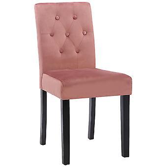 Esszimmerstuhl - Esszimmerstühle - Küchenstuhl - Esszimmerstuhl - Modern - Rosa - Holz - 43 cm x 54 cm x 89 cm