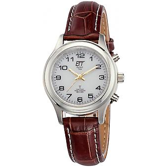ONE (Eco Tech Time) Brown Genuine Leather ELS-11334-61L Women's Watch