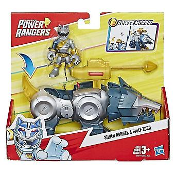 Video game consoles playskool heroes power rangers silver ranger and wolf zord