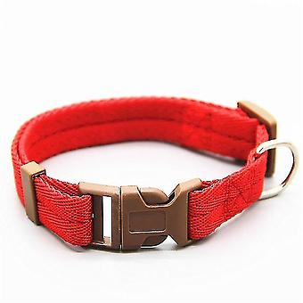 Pet collars harnesses must have adjustable nylon dog collars l 30-50cm red