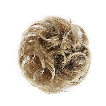 2 Stk Rodet Krøllet Chignon Scrunchie Donut Hair Bun Pad Elastik Hår Reb Elastik Elastik Band Syntetisk
