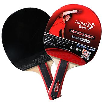 Table Tennis Rackets Set Pong Paddle Anti-slip Grip Pong Racket With Table Tennis Balls For Beginner Training (horizontal Grip)