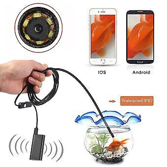 Ip67 vízálló vezeték nélküli wifi boroszkóp kamera 8mm borescope kompatibilis Ios / Android / Windows / Mac rendszerekkel