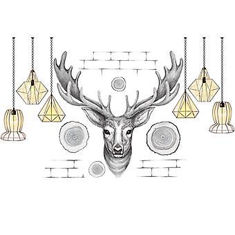 elg hengende lampe vegg klistremerke hjem dekal (størrelse: 205cm x 97cm)