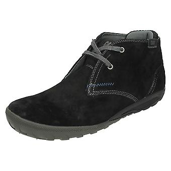 Mens Caterpillar Suede Leather Ankle Boots Crump Mid