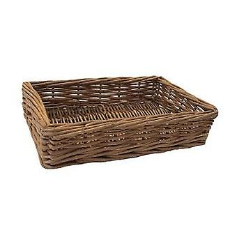 Small Double Steamed Wicker Storage Tray