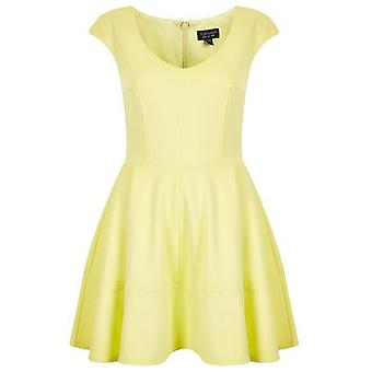 Topshop Ribbed Lemon Skater Dress DR813-6