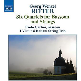 G.w. Ritter - Georg Wenzel Ritter: Sechs Quartette für Fagott und Streicher [CD] USA import