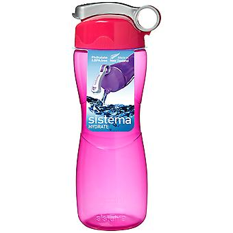 Sistema Hourglass Drink Bottle 645ml, Pink