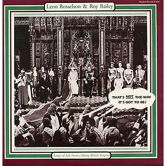 Rosselson/Bailey - Songs of Life From a Dying British Empire [CD] USA import