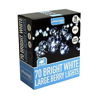 70 brilhante branco grande Berry String luzes de fada interior exterior Natal decorações