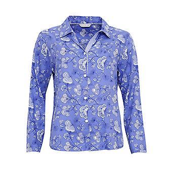 Cyberjammies 3210 Women's Vienna Blue Floral katoen en modale Pajama nachtkleding PJs pyjama's terug naar boven