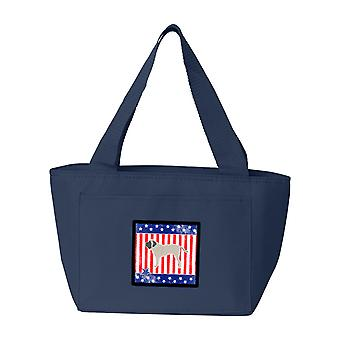 Bolsa de almuerzo de Carolines tesoros BB3356NA-8808 USA patriótico Mastín Inglés