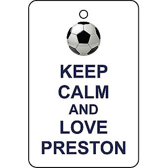 Keep Calm And Love Preston Car Air Freshener