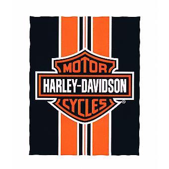 Harley-Davidson logoen og stripete stranden teppe 54. X 68 i.