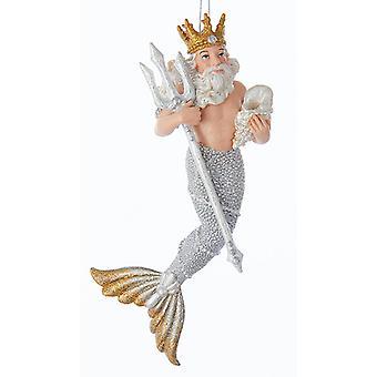 Kurt Adler Under the Sea King Neptune  Holiday Ornament