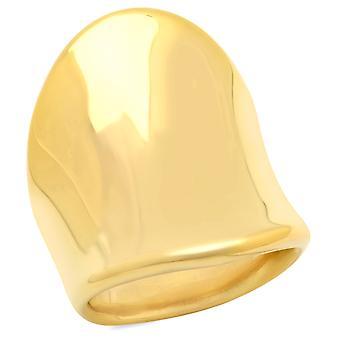 السيدات 18 ك الذهب من الفولاذ المقاوم للصدأ مطلي برجمه الدائري