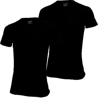 Jockey 2-Pack nästa Gen 3D innovationer T-Shirts, svart