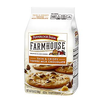 Pepperidge Farm Farmhouse Thin & Crispy Toffee Milk Chocolate Cookies 2 Bag Pack