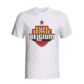 Belgicko logo krajiny tričko (biela)-deti