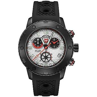 Swiss military mens watch rally GMT Nero chronograph 2750