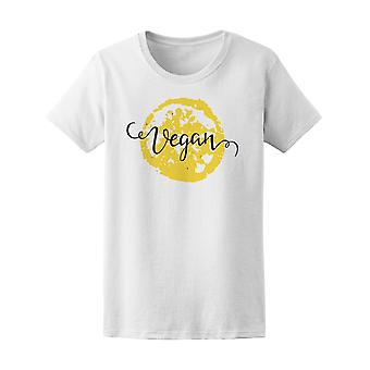 La palabra vegano de limón fondo t mujeres-imagen de Shutterstock