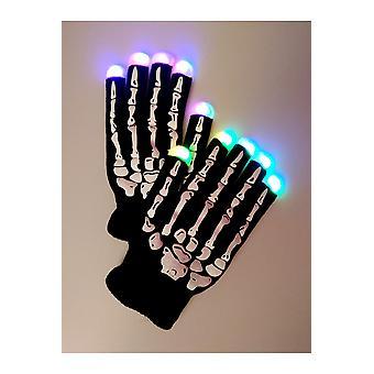 Scheletro di guanti guanti Led luminosi