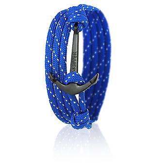 Нейлон синий якорь 6641 блеск шкипер якорь браслет с черным