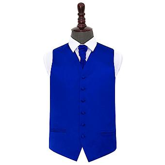 Cintura de la boda de satén azul azul real & Conjunto Cravat