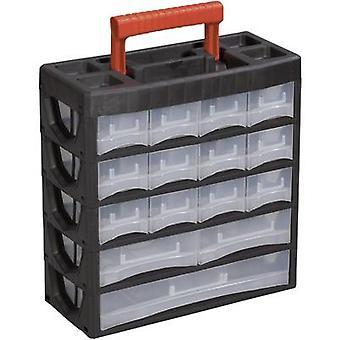 Alutec 56660 työkalu rasia (tyhjä) muovi musta, punainen