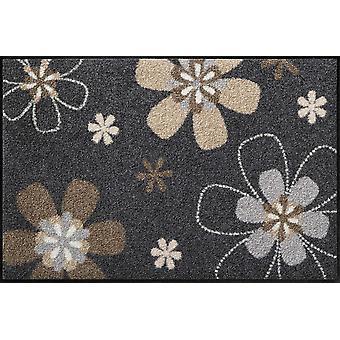 Tapis de sol lavable de Florentina lion Salon motif de fleurs