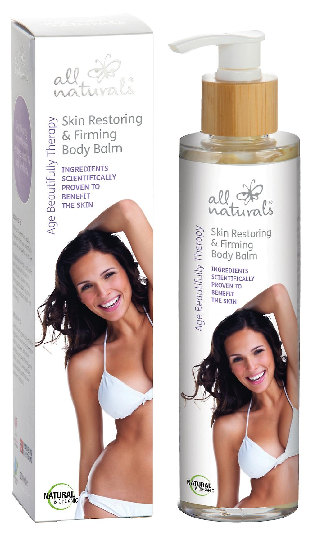 Organic Skin Restoring & Firming Body Balm. Age Beautifully Therapy. 200ml